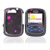 Cricket PCD TXTM8 Hard Case - Hot Pink Stars on Black