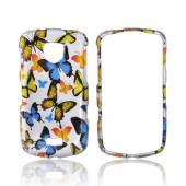 Samsung Droid Charge Hard Case - Colorful Butterflies on Silver