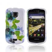Samsung Droid Charge Hard Case - Blue/ Green Water Lilies on White