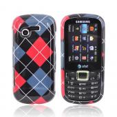 Samsung Evergreen A667 Hard Case - Red, Gray, Black, White Argyle