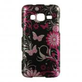 Hot Pink Flowers & Butterflies on Black Hard Case for Samsung ATIV S Neo