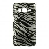 Black Zebra on Silver Hard Case for Samsung ATIV S Neo