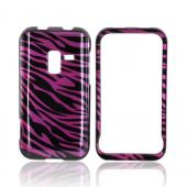 Samsung Conquer 4G Hard Case - Purple/ Black Zebra