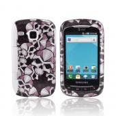 Samsung DoubleTime Hard Case - Silver Skulls on Black