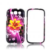 Samsung Galaxy S3 Hard Case - Yellow & Red Dream Flowers on Hot Pink