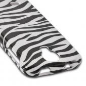 Black Zebra on White Hard Case for Samsung Galaxy S4