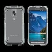 Clear Samsung Galaxy S5 Active Hard Case Cover; Perfect fit as Best Coolest Design Plastic cases
