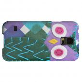 Geeks Designer Line (GDL) Samsung Galaxy S5 Matte Hard Back Cover - Purple/ Green Owl