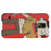Geeks Designer Line (GDL) Samsung Galaxy S5 Matte Hard Back Cover - Zombie on Red