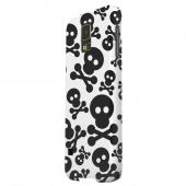 Geeks Designer Line (GDL) Samsung Galaxy S5 Matte Hard Back Cover - Skull Face Invasion Black on White