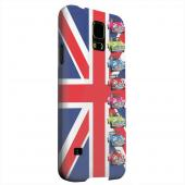 Geeks Designer Line (GDL) Samsung Galaxy S5 Matte Hard Back Cover - Multi Mini Coopers on Union Jack