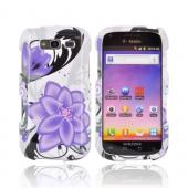 Samsung Galaxy S Blaze 4G Hard Case - Purple Lily on White
