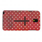 Geeks Designer Line (GDL) Samsung Galaxy Note 3 Matte Hard Back Cover - Stained Cross on Red