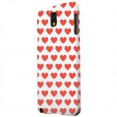 Geeks Designer Line (GDL) Samsung Galaxy Note 3 Matte Hard Back Cover - Red Hearts on White