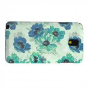 Geeks Designer Line (GDL) Samsung Galaxy Note 3 Matte Hard Back Cover - Blue/ Green Floral