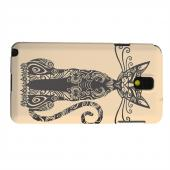 Geeks Designer Line (GDL) Samsung Galaxy Note 3 Matte Hard Back Cover - Kitty Nouveau on Peach