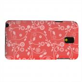 Geeks Designer Line (GDL) Samsung Galaxy Note 3 Matte Hard Back Cover - Floral 2 Poppy Red
