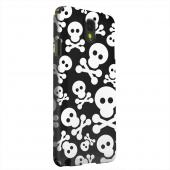 Geeks Designer Line (GDL) Samsung Galaxy Note 3 Matte Hard Back Cover - Skull Face Invasion White on Black