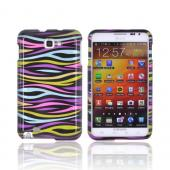 Samsung Galaxy Note Hard Case - Rainbow Zebra on Black