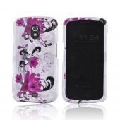 Samsung Galaxy Nexus Hard Case - Pink Flowers on White