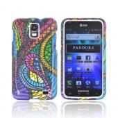 Samsung Galaxy S2 Skyrocket Hard Case - Jamaican Fabric w/ Silver Sparkle