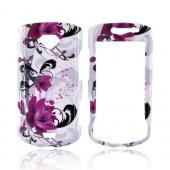 Samsung Gem i100 Hard Case - Pink Flowers on White