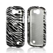 Silver/ Black Zebra Hard Case for Samsung Galaxy Express