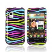 Samsung Fascinate i500 Hard Case - Rainbow Zebra on Black