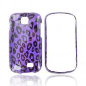 Samsung Galaxy Appeal Hard Case - Purple/ Black Leopard