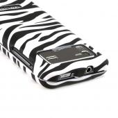 Samsung Captivate Glide i927 Hard Case - White/ Black Zebra