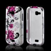 Magenta Flowers & Black Vines on White Hard Case for Samsung ATIV Odyssey