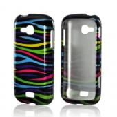 Rainbow Zebra on Black Hard Case for Samsung ATIV Odyssey