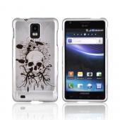 Samsung Infuse i997 Hard Case - Black Skull on Silver