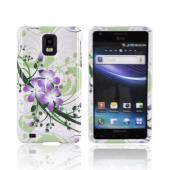 Samsung Infuse i997 Hard Case - Purple Lilly on Green/ White