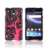Samsung Infuse i997 Hard Case - Hot Pink Tree on Black