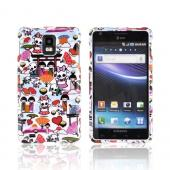 Samsung Infuse i997 Hard Case - Kawaii Baby Skull Design on White