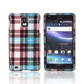 Samsung Infuse i997 Hard Case - Plaid Pattern of Blue, Brown, Green