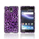 Samsung Infuse i997 Hard Case - Purple/ Black Leopard