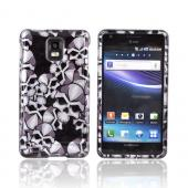 Samsung Infuse i997 Hard Case - Silver Skulls on Black