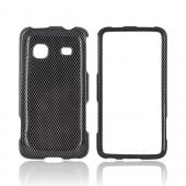 Samsung Galaxy Prevail M820 Bling Hard Case - Carbon Fiber