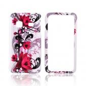 Samsung Prevail M820 Hard Case - Pink Flowers on White
