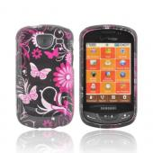 Samsung Brightside U380 Hard Case - Plaid Pattern of Pink, Hot Pink, Brown, Gray