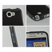 Black/ Gray Carbon Fiber Design Hard Case for Samsung Galaxy Note 2