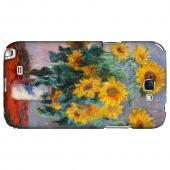 Claude Monet Bouquet of Sunflowers Geeks Designer Line Artist Series Slim Hard Case for Samsung Galaxy Note 2