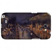 Boulevard Montmarte at Night by Camille Pisarro - Geeks Designer Line Artist Series Hard Case for Samsung Galaxy Note 2