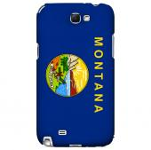 Montana - Geeks Designer Line Flag Series Hard Back Case for Samsung Galaxy Note 2