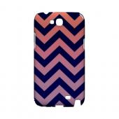 Pink/ Navy Blue Gradient Geeks Designer Line Zig Zag Series Slim Hard Case for Samsung Galaxy Note 2