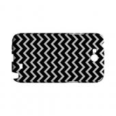 White on Black Geeks Designer Line Zig Zag Series Slim Hard Case for Samsung Galaxy Note 2