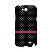 Pink Horizontal Stripe Geeks Designer Line Polka Dot Series Slim Hard Case for Samsung Galaxy Note 2