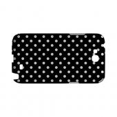 White Dots on Black Geeks Designer Line Polka Dot Series Slim Hard Case for Samsung Galaxy Note 2